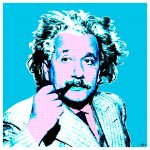 Genius With A Pipe in Blue Ltd Ed Print (10 of 22 Available)