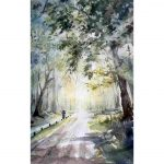 Morning ride – Original watercolour painting