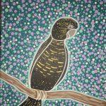 Aboriginal dot painting 'black cockatoo'