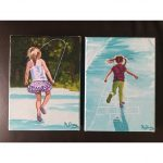 Skipping and Hopscotch two mini paintings