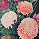 A Life Time Love – Chrysanthemums, roses and Green Ball Dianthus