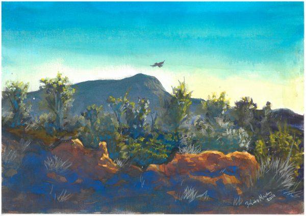 Braitling Hill Nt Plein Air 20.9 X 14.9 Cm Watercolour On Paper