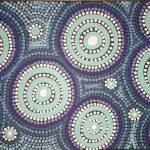 Aboriginal dot painting 'rockpools'