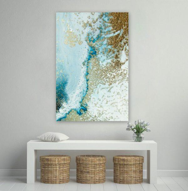 Gold Wall Art Reef Shallows Petra Meikle De Vlas 1 600x608