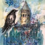 Galata Tower with Crow