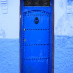 Blue Entry Door Chefchaouen Morocco Ltd Ed Print