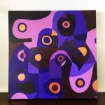 Purple Reign – abstract modernist acrylic painting