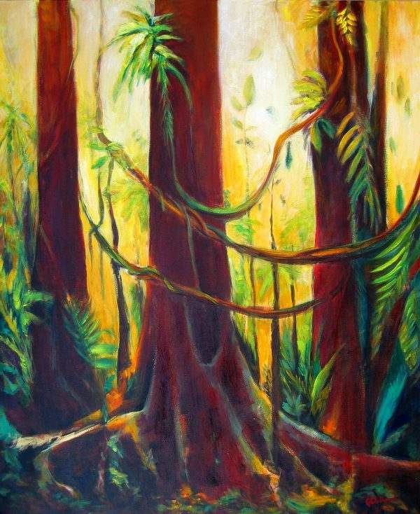 Rainforest 120x90 Oil On Canvas $1500