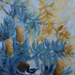 Honey Eater and Coastal Banksias