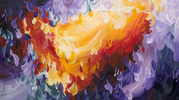 Tropical Sunset By Amber Gittins