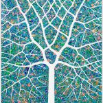 Spring Garden Tree Textured Abstract – SOLD