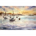 Sunset  Harbour – Original watercolour painting
