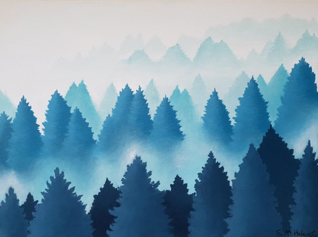 Swiss Alps Treetops Through The Mist 1024x766