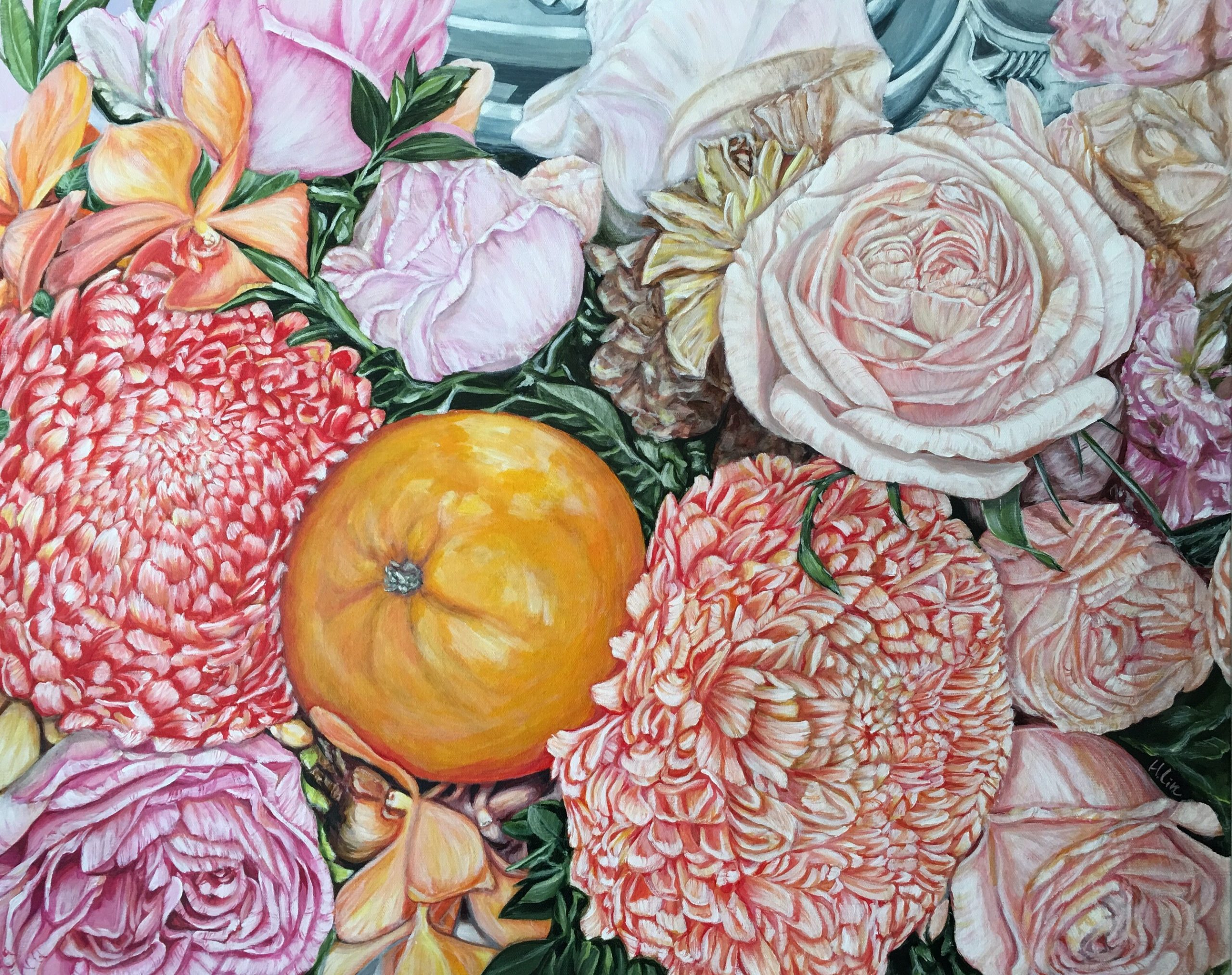 2.a Life Time Blessing Orange And Chrysanthemum