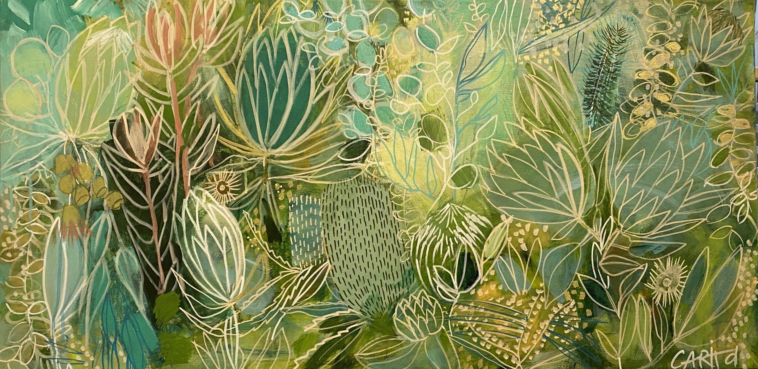 Carita Farrer Spencer Tanja In Green 50×100