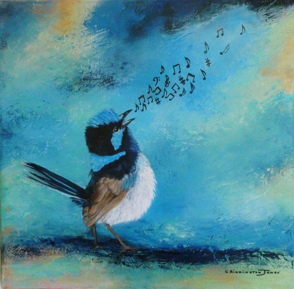 Clare Riddington Jones, Birdsong, 50cm X 50cm