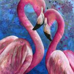 George and Joyce – Flamingo pair – Ltd Ed print