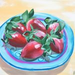 Sweet, Sweet love – Impasto Strawberries Study