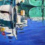 Beautiful boat reflection