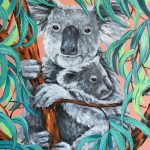 Koala mum with joey
