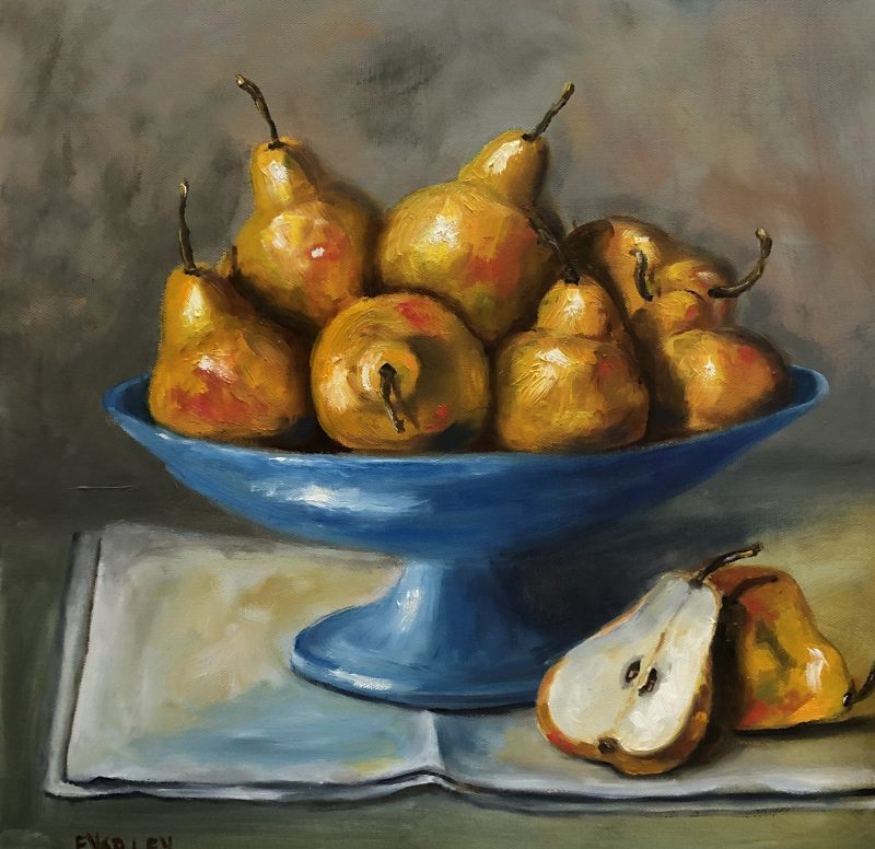 Pears Oil On Canvas 40 40 Cm 375 800x776