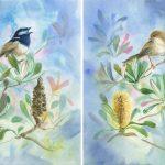 Spring Serenade in Banksia – Set of 2
