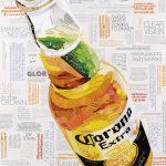 Icy Cold Corona – Original Collage