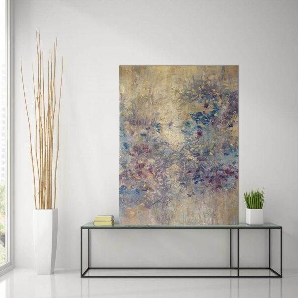 Wild Iris Glass Table