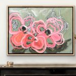 Champagne Blush – Abstract Flowers
