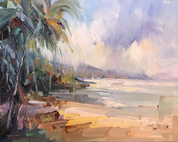 Liliana Gigovic Abstract Landscape Paintings For Sale Art Lovers Australia Palm Bay Beach