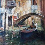 Venetian Light Canal and Gondola In Venice (1084)