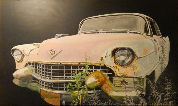 55 Pink Madam Oil On Canvas Big Ii