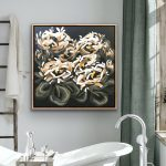 Cappuccino Moon – Abstract Flowers