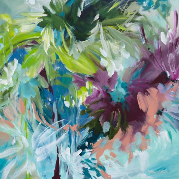 Escape To The Tropics Abstract Landscape By Amber Gittins