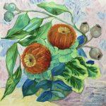 Waratah Banksias and the Viridian Leaves