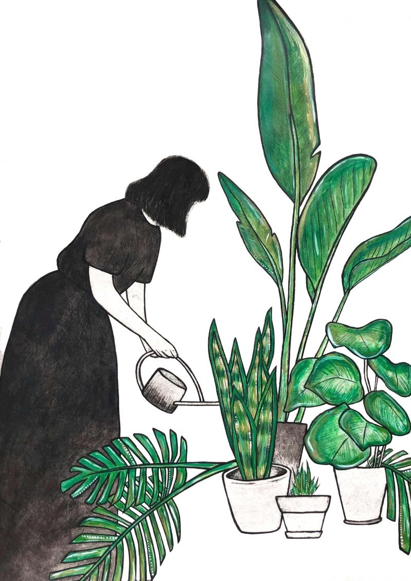Inkedkate Piekutowski Artist The Garden Forager Art Lovers Australia Li