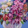 Magenta Orchid With Mix Bouquet 101x101cm Megan Barrass 1mb