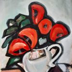 Poppies in a teapot
