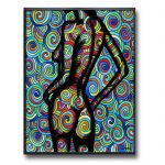 Psychedelic Girl | Framed Canvas Print