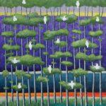 Purple Birch and Birds