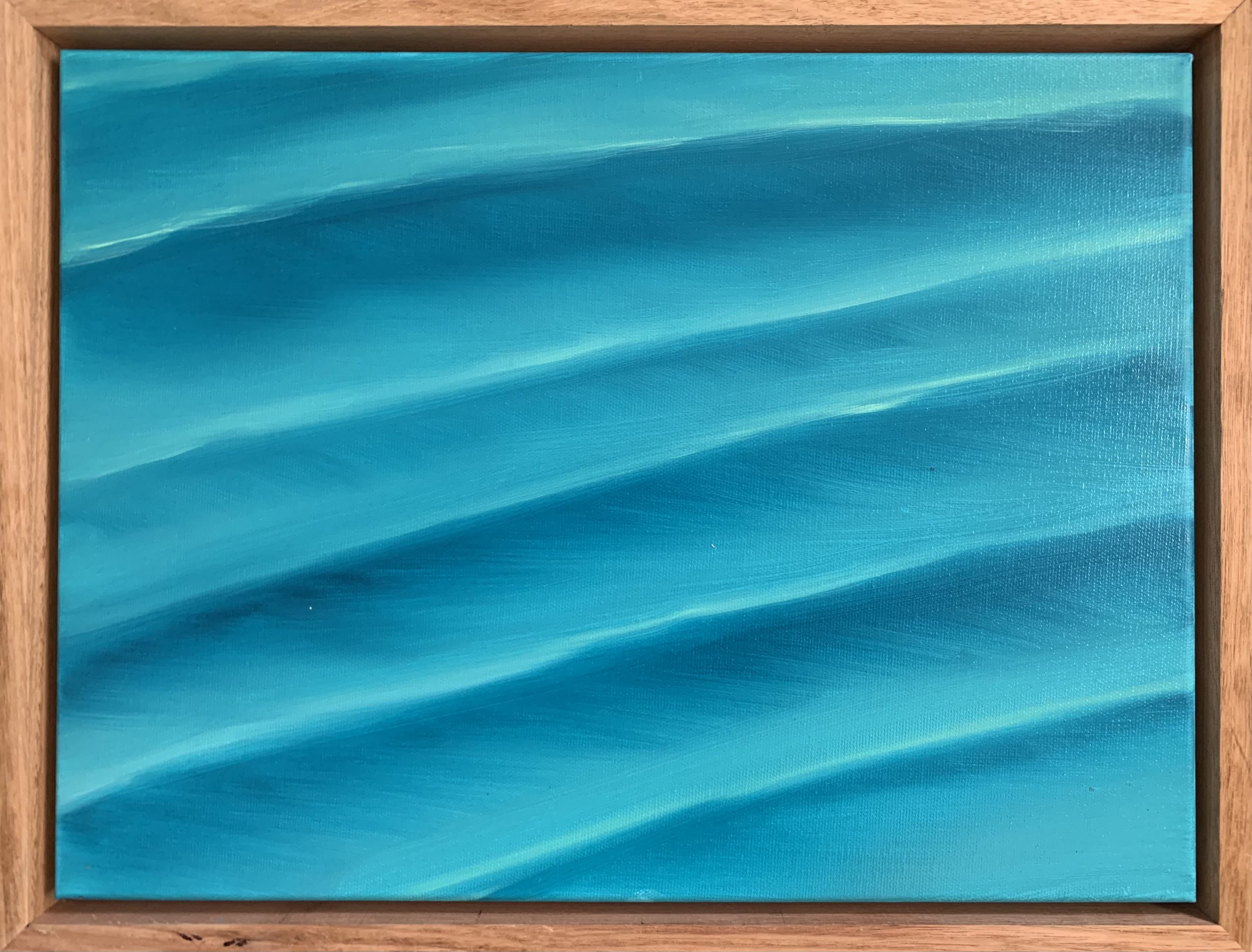 Sand Ripples Underwater Painting Framed By Alanah Jarvis