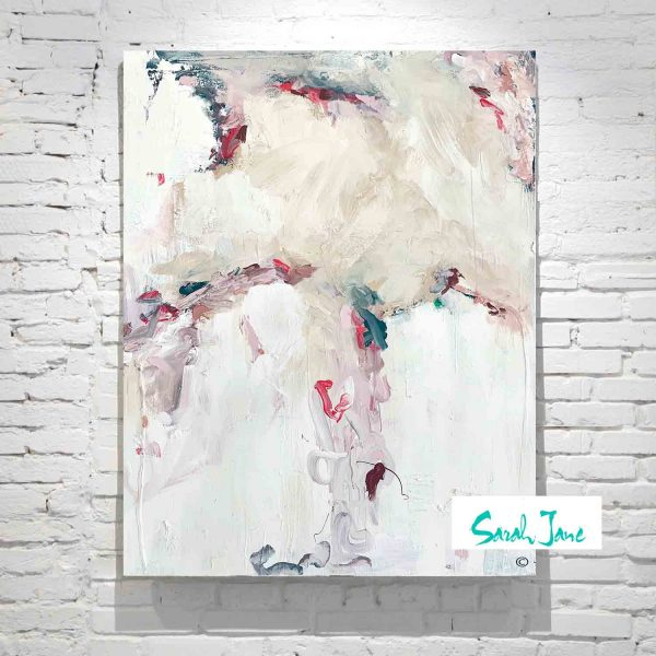 Sarah Jane Painting Abstract Soft Colours Titled Electric Dreams