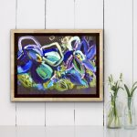 Sea Change – Blue Abstract Flowers