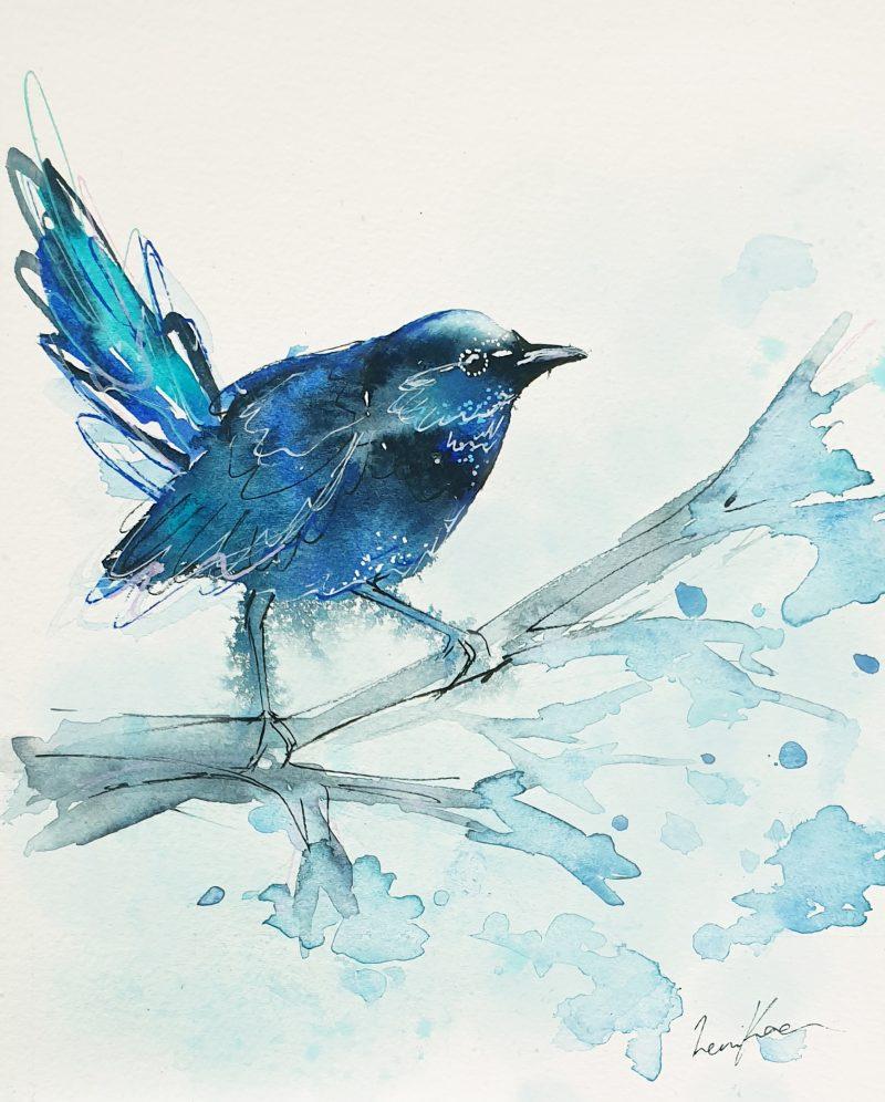 Sydney Artist Leni Kae Dreams Of A Blue Fairy Wren 2 800x996