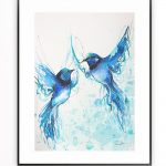 Two Blue Fairy Wrens