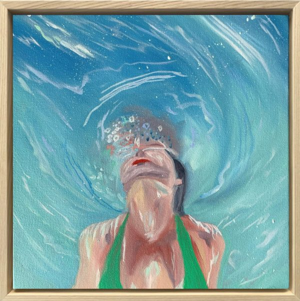 Tropical Vibes Alanah Jarvis Swimming Girl Art Australia