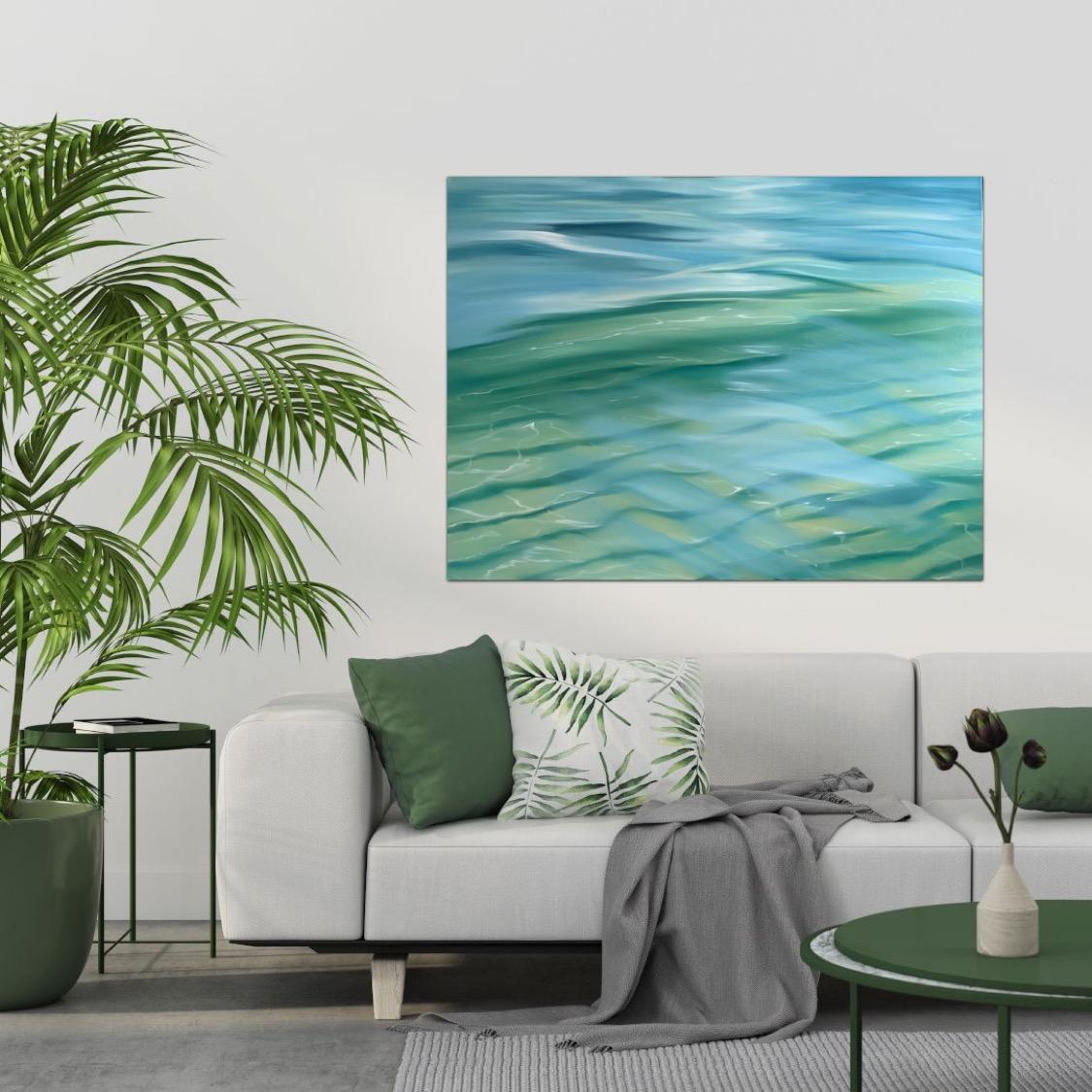 Tropical Beach Ocean Painting Alanah Jarvis Insitu