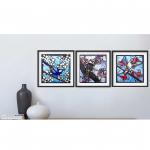 Australian Birds Linocut Triptych – Ltd Ed Print