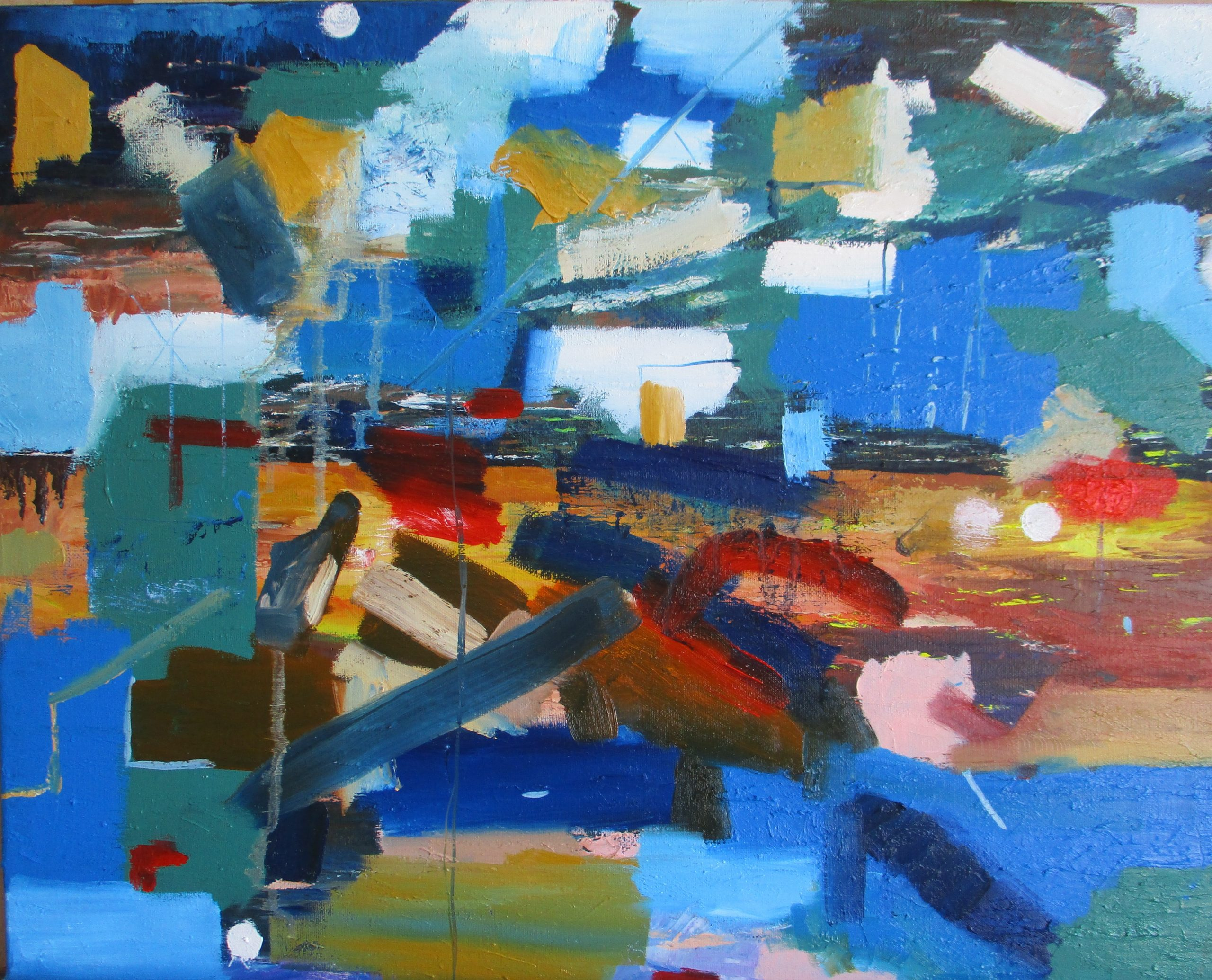 Abstract No 2 Oil On Canvas