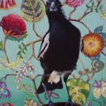 Say what? Magpie with Australian blooms
